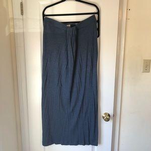 LOFT Blue Maxi Skirt